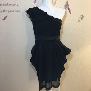Double zero black mini dress.